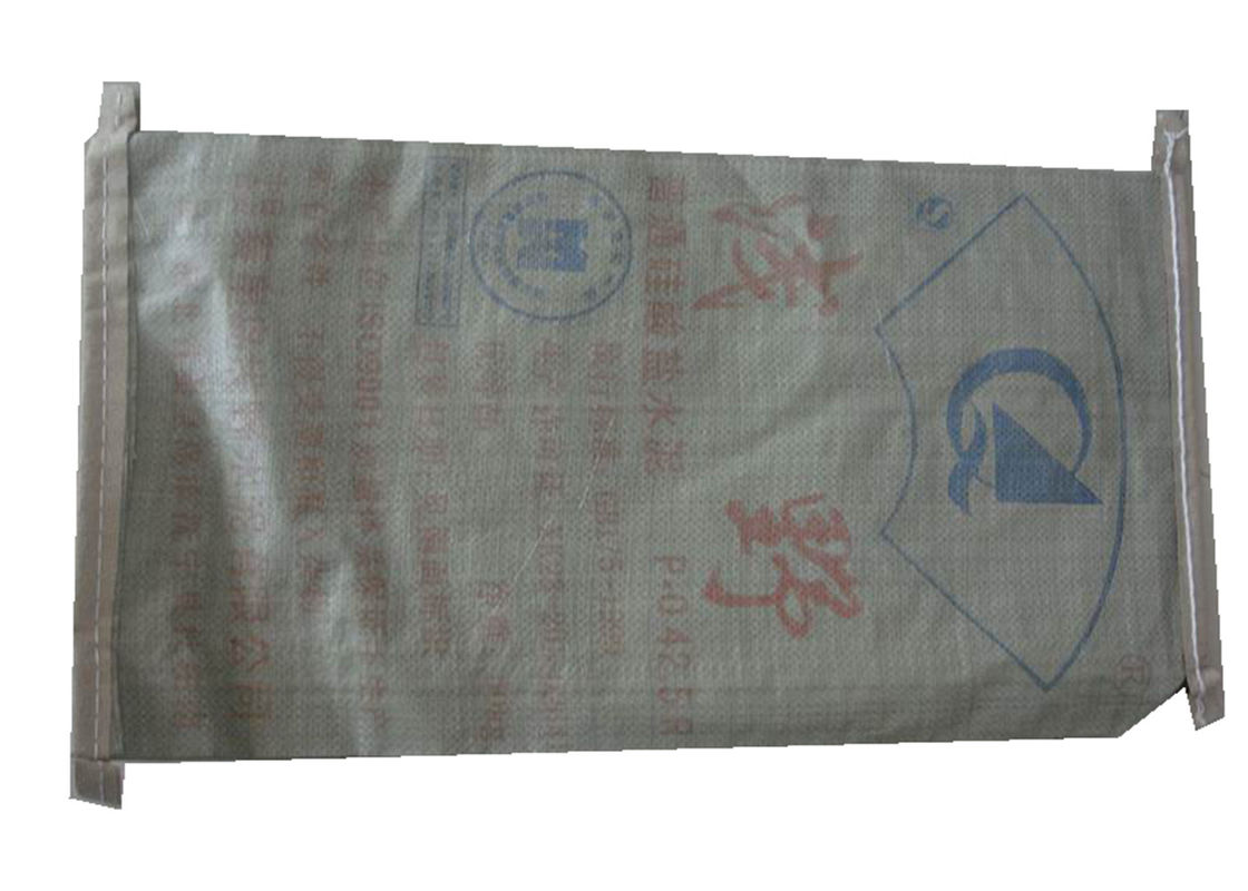 White / Brown Cement PP Valve Bag , Kraft Paper PP Woven Gusseted Poly Bags