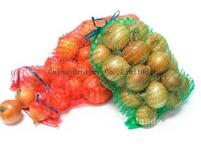 High Resistant Mesh Drawstring Bags , Mesh Fruit Bags For Packaging