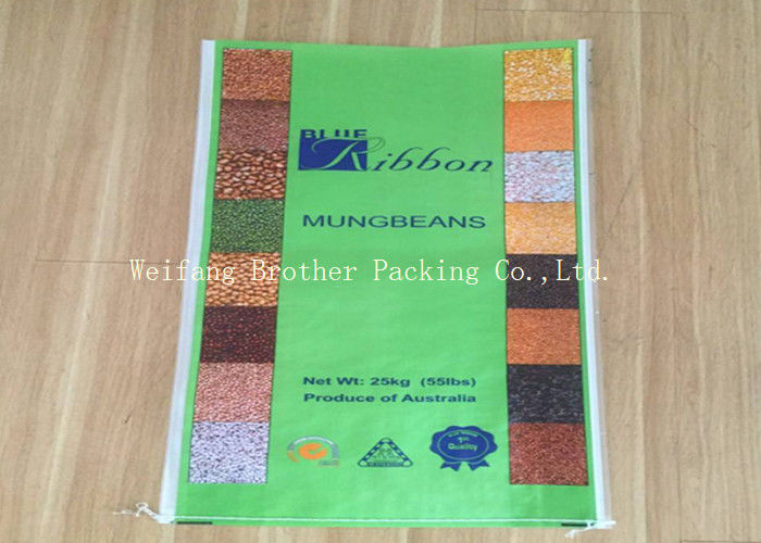 High Strength Laminated Polypropylene Bags Rice Packing With Double Stitches